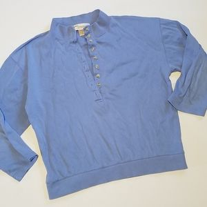 💕3 for 20💕 Norm Thompson Half Button Shirt